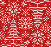 New year knitted northern seamless pattern Stock Images