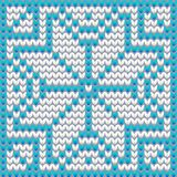 New Year knitted snowflake, winter pattern. Vector illustration vector illustration