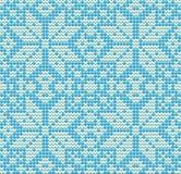 New Year knitted snowflake, winter seamless pattern, vector. Illustration stock illustration