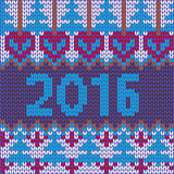 New year with knitted texture christmas Royalty Free Stock Images