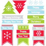 New Year labels Royalty Free Stock Image