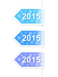 New Year 2015 labels. Set of snowflake New Year 2015 labels. Vector illustration Stock Photography