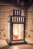 New Year lantern for candles. Royalty Free Stock Image
