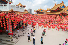 New year lantern decorations at Thean Hou temple, Malaysia Stock Photography