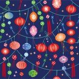 New year lantern greeting card Stock Photography