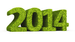 New Year 2014 leaf formation icon Stock Photo