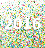 New year 2016 lettering on background confetti Royalty Free Stock Photography