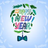 New Year lettering background Royalty Free Stock Photo