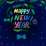 New Year lettering background Stock Image
