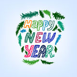 New Year lettering background Royalty Free Stock Image