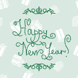 New Year lettering of fir-tree font Stock Photography