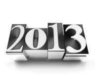 New year letterpress 2013 Stock Photos