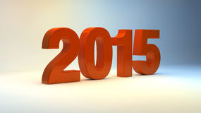 New Year 2015. Letters in 3d in abstract background Stock Photos