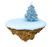 New Year levitate little island. Royalty Free Stock Photography