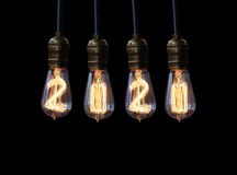 New year 2020. Light bulb,new year 2020 Royalty Free Stock Photos