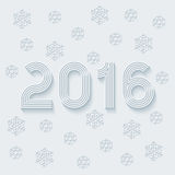 New year 2016. Light perforated paper with cut out effect. Vector EPS10 Royalty Free Stock Photos
