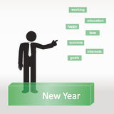 New Year list Royalty Free Stock Photos