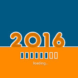 New year 2016 loading background. Design with vivid colors Royalty Free Stock Photography