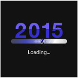 New year 2015 loading background,happy new year template. Vector illustration Stock Photography