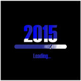 New year 2015 loading background,happy new year template Royalty Free Stock Image