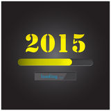 New year 2015 loading background,happy new year template. Royalty Free Stock Photography
