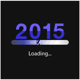 New year 2015  loading background. Happy new year template.vector illustration Royalty Free Stock Images