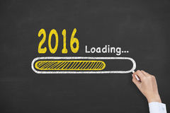 2016 New Year Loading Royalty Free Stock Photos