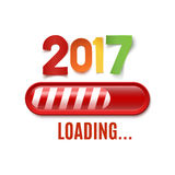 New year 2017 loading bar isolated on white background. Vector illustration Royalty Free Stock Images