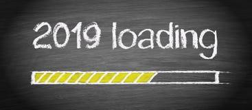 2019 New Year loading royalty free illustration