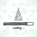 New year is loading. Christmas tree. Royalty Free Stock Photo