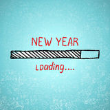 New year is loading. Holiday tamplate vector Royalty Free Stock Image