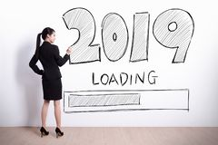 New Year is loading now stock images