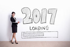 new year is loading now stock photo