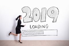 New Year is loading now stock photos
