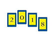 New year logo. Happy new year logo on white Background royalty free illustration