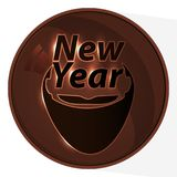 New year logo. Santa Claus Wart Chocolate. Illustration for your design royalty free illustration