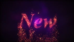 New Year 2015 Loopable Background stock footage