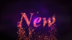 New Year 2020 loopable background Animation royalty free illustration