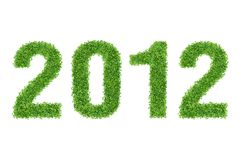 New Year Made of grass Stock Photos