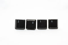 New Year 2016. Made with keyboard keys Stock Photography