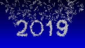 New year 2019 made from musical notes stock photography