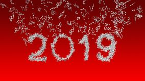 New year 2019 made from musical notes royalty free stock images