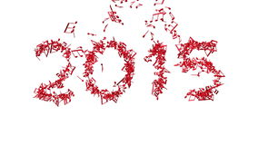 New year 2015 made from the notes stock video