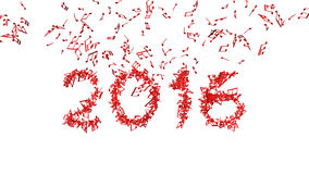 New year 2016 made from the notes. White background Stock Photos