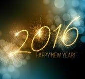 2016  New Year made a sparkler. Vector Royalty Free Stock Photos