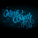 New Year made a sparkler. Vector illustration Royalty Free Stock Photography