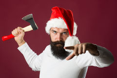 New year man with axe Stock Photography