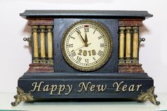 New Year Mantle Clock royalty free stock images