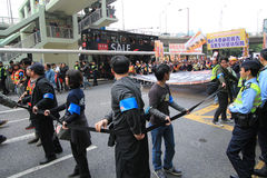 New year marches 2013 in hong kong Stock Photography