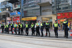 New year marches 2014 in hong kong Stock Photography
